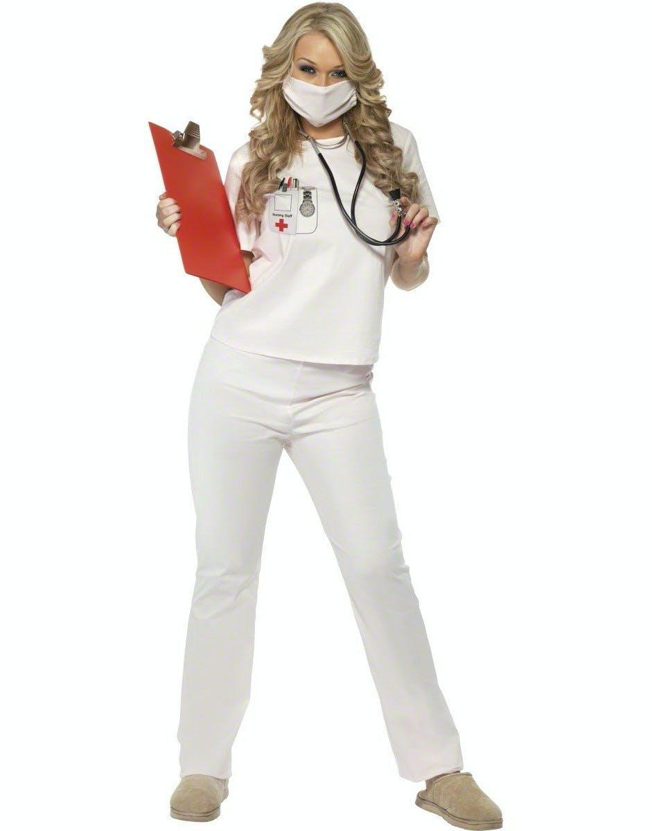 4f3e81da Cutie Nurse - Kostyme m/Maske - Strl S