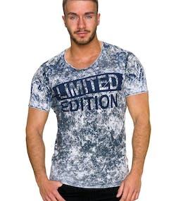 Limited Edition - Grå Slim-Fit T-Shirt 6f8e605e010bd