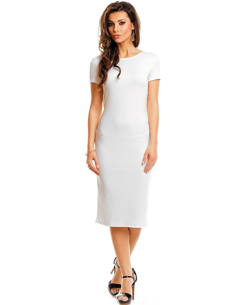 hvit og gull kjole
