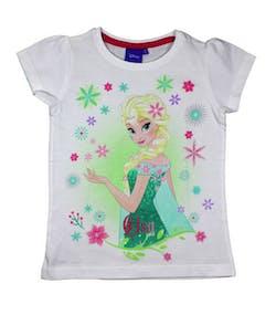 Vit Frozen Elsa T-shirt till Flicka 22c1e876e3fce