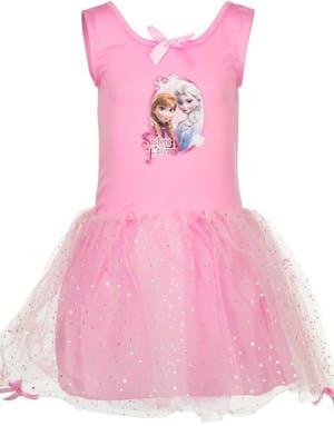 Rosa Disney Frosen Barnklänning med Paljetter och Rosetter 48c1da71038ff