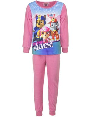6fb0f5ca Rosa Paw Patrol Pyjamas / Kosedress i Fleece til Barn