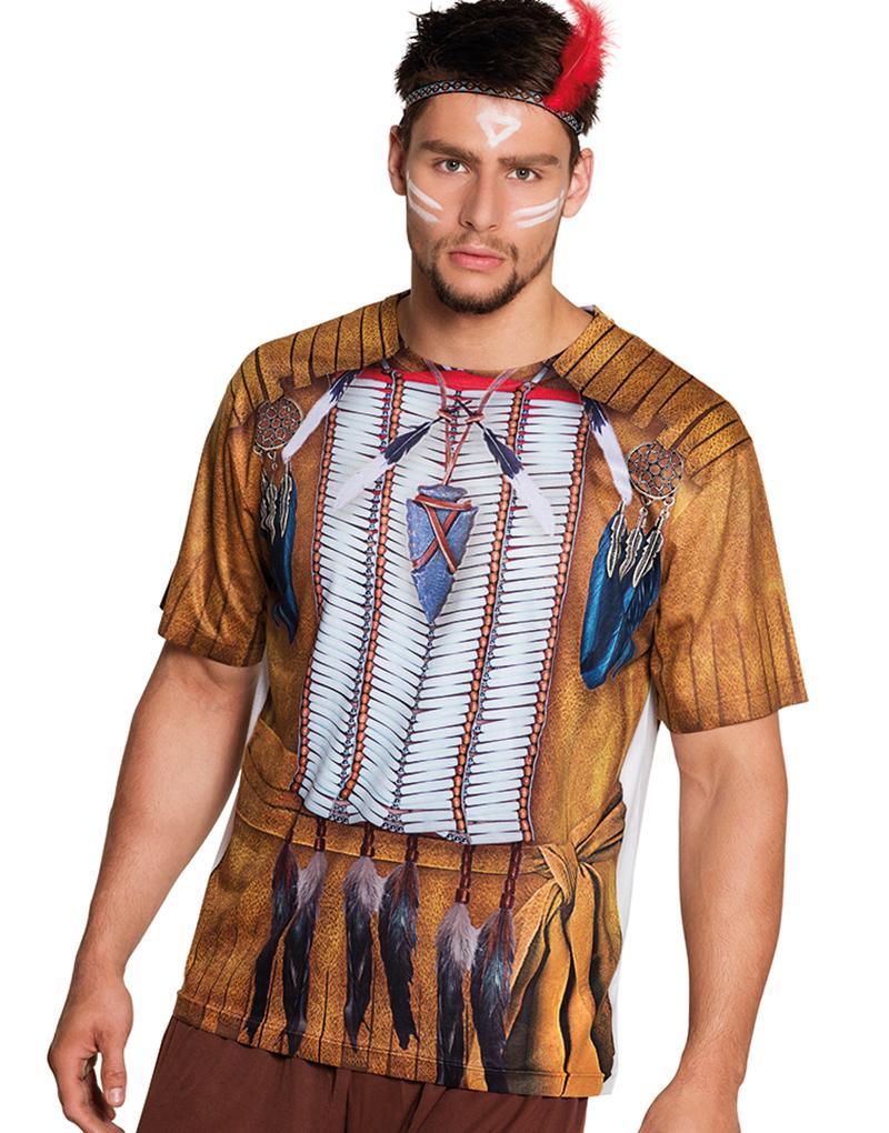 Fotorealistisk Indianer T skjorte Cowboy & Indianer