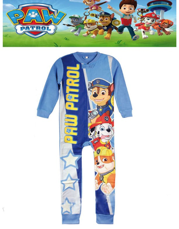 Licensierad Blå Paw Patrol Fleece Pyjamas till Barn - Paw Patrol ... 50ab637c51b0e