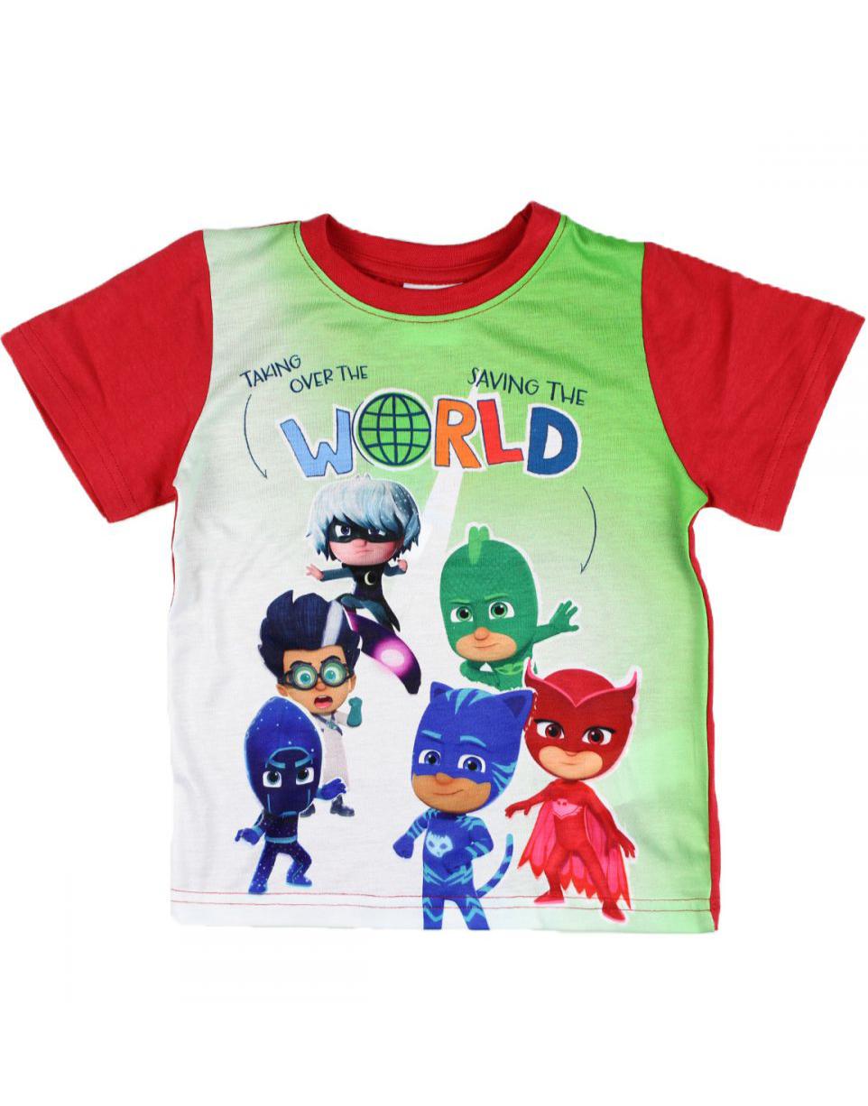 Rød Pysjheltene T skjorte til Barn Disney Temafester