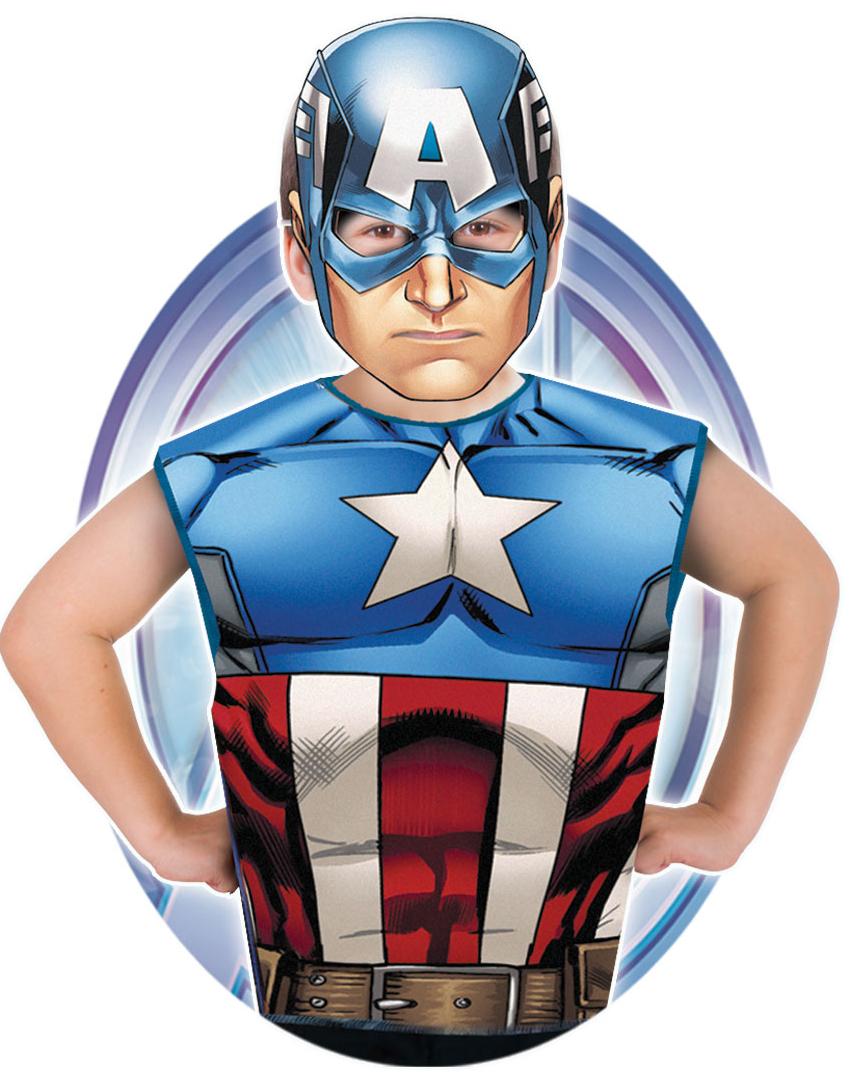 Lisensiert Marvel Captain America Kostyme til Barn Strl 3 6 ÅR