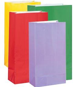 e43339d2 12 stk Godteposer i Assorterte Farger i Papir