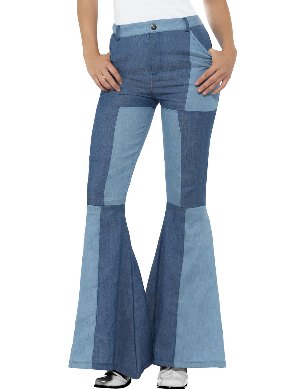 Hippie Denim Look Slengbukse til Dame