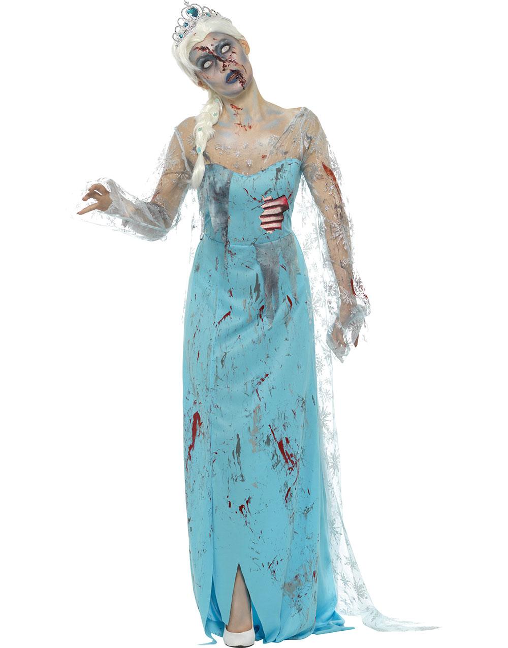 Zombie Elsa Inspirerad Damdräkt