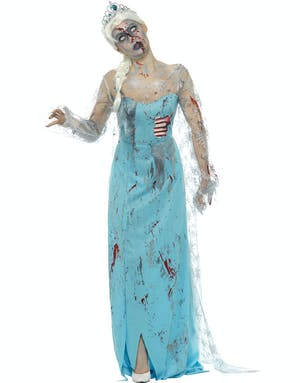 101769aa98be Zombie Elsa Inspirerad Damdräkt