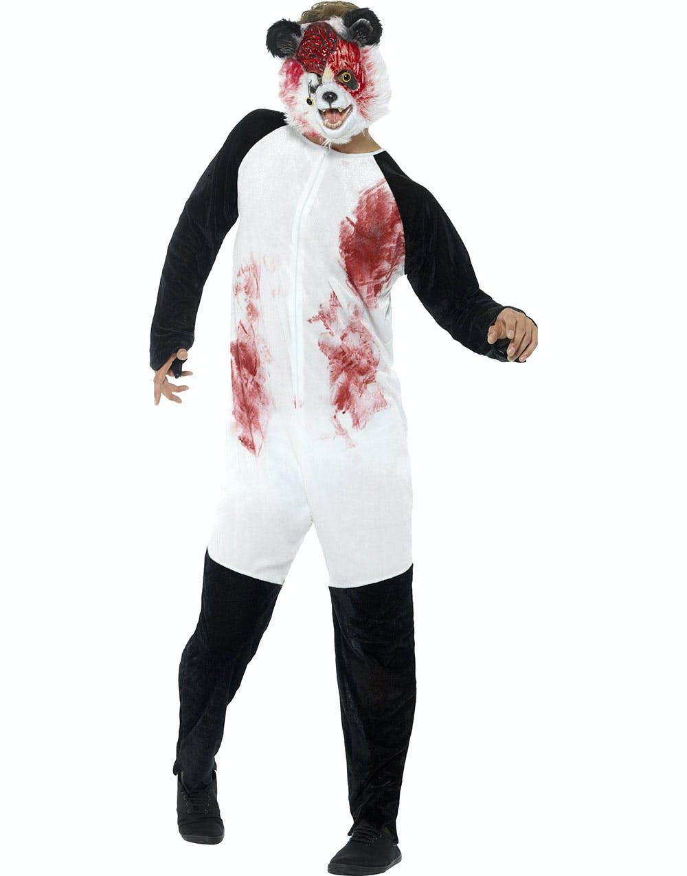Zombie Pandadräkt till Herr med Mask f6d4a5ed9bcb1