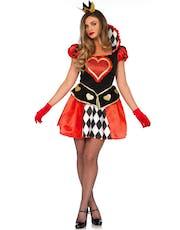 Queen of Hearts-inspirerad Maskeraddräkt (Dam) 721ea648ce94e