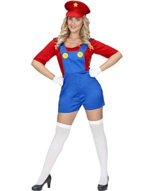 Mario-inspirerad Maskeraddräkt (Dam) - Maskeradkläder Vuxen ... 0c4aea6a12fc0