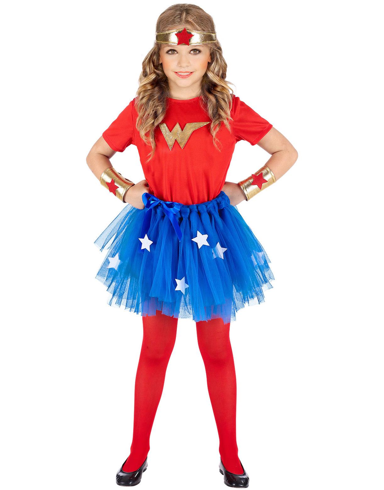 Wonder Woman Inspirert Kostyme til Barn Strl 3 4 ÅR