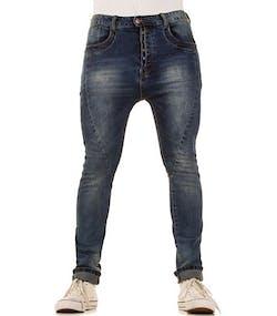 Plain Blå Jeans med Ljusa Områden 3ebbcc0e27b5d