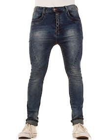 Plain Blå Jeans med Ljusa Områden 659938899c61f