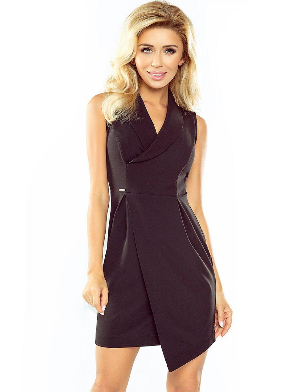 Vintage retro svart klänning cocktailklänning svarta pärlor sidan 60 tal