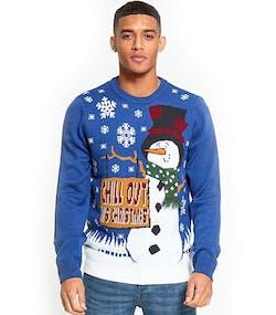 d7e61729 Chill Out Its Christmas - Blå Julegenser