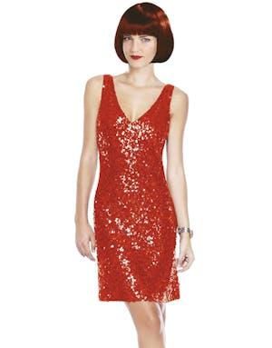 Röd Partyklänning med Paljetter 8cf289d79eacc
