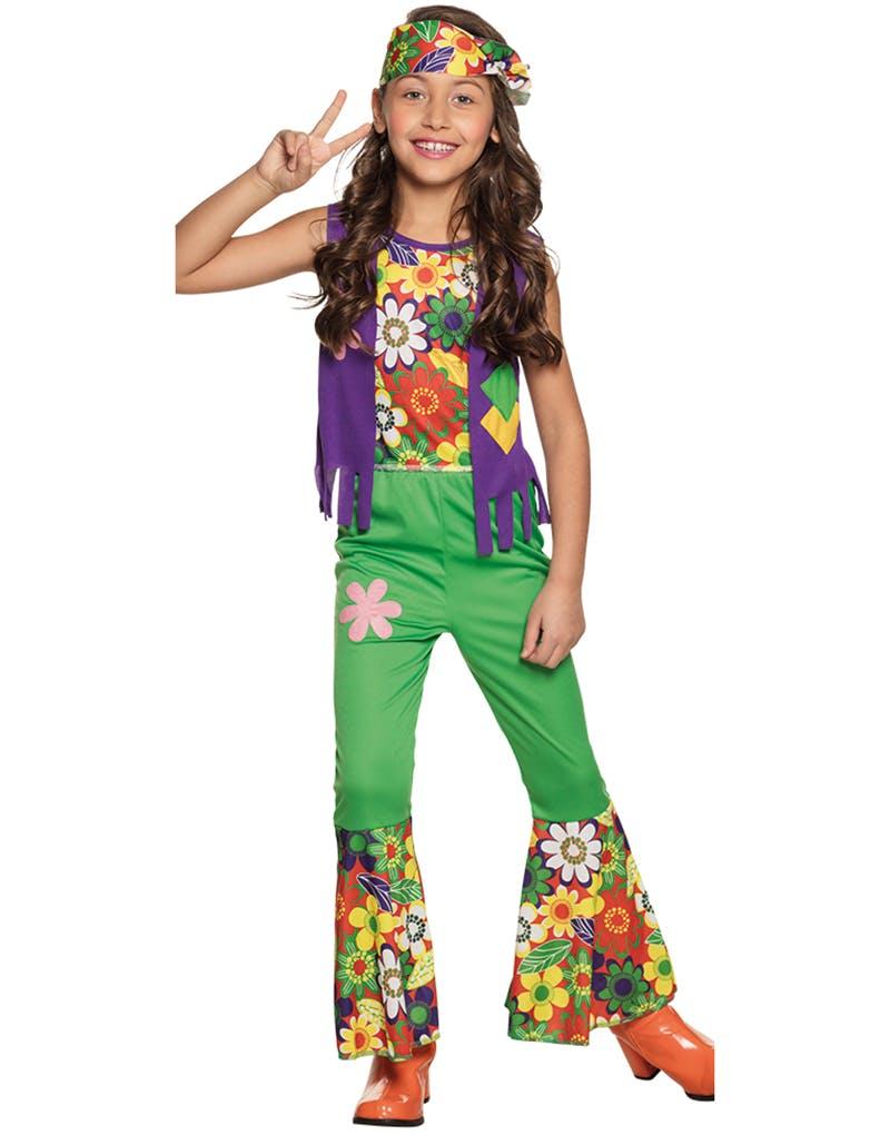 358f9101 Fargerikt Woodstock Hippie Barnekostyme til Jente - Se Alle Våre ...