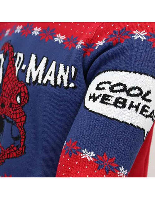 Lisensiert Strikket Spider Man Julegenser Julegensere