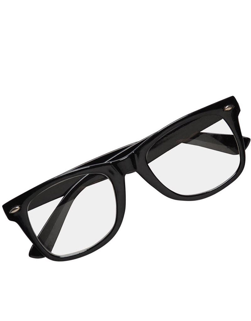 58ba12eeb Wayfarer Briller m/Klart Glass - Svart