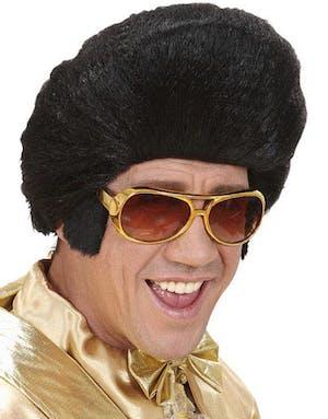 Guldfärgade Elvis-Glasögon med Polisonger a4be170c6fef2