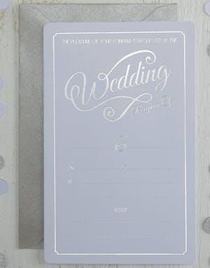 10 stk hvite bryllupsinvitasjoner glitter celebration
