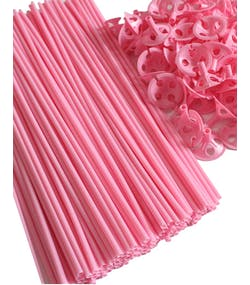 10 stk Ljus Rosa ballongpinnar 40 cm 6ac3cbf1a41da