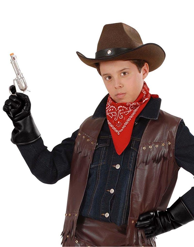 41c29a1679cf samanya vahivat vibhag Svarte Pirat Cowboy Skinnimiterte Hansker til Barn