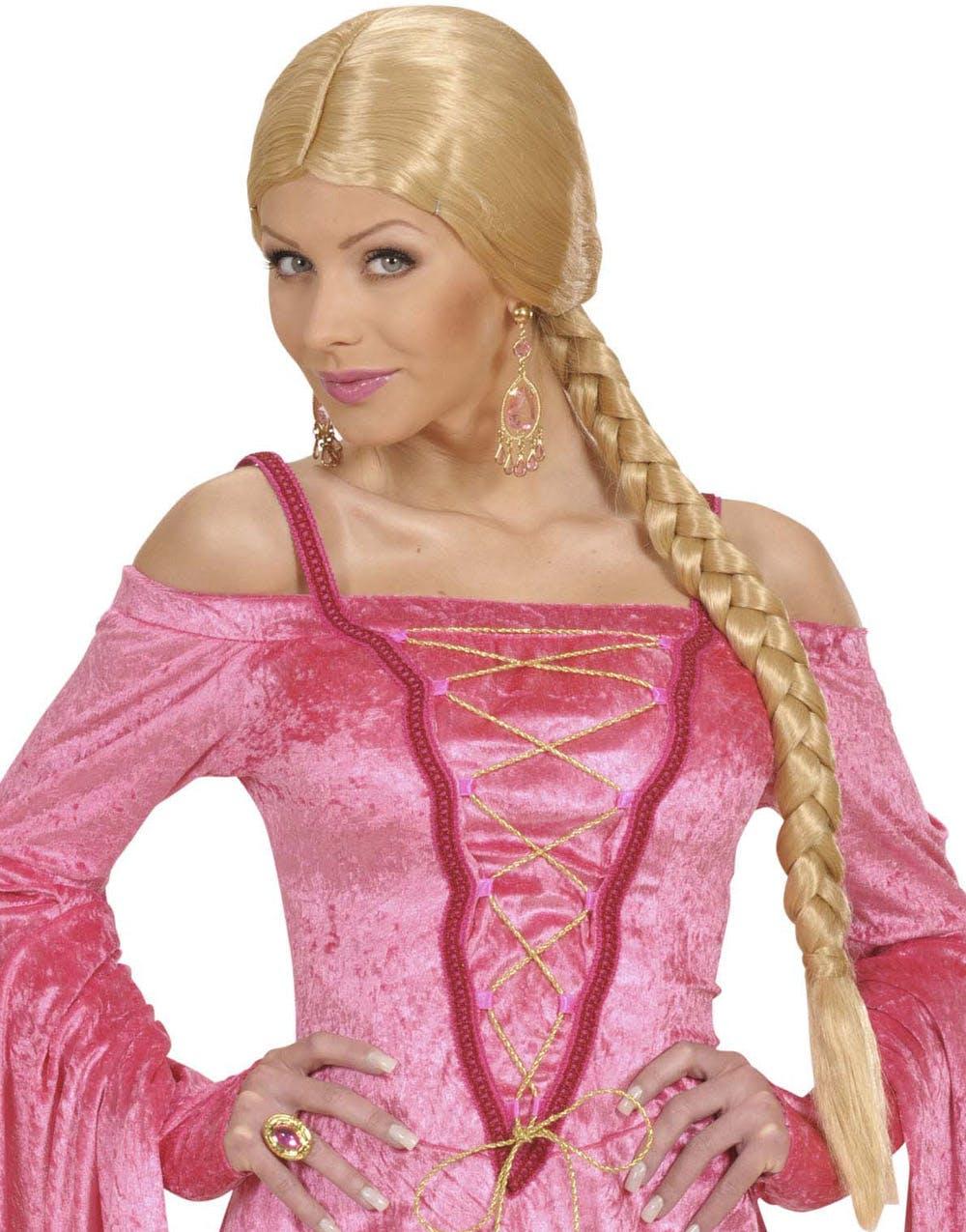6deb14338401 Rapunzel - Blond Parykk med Lang Flette