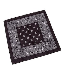 differently 5cc96 4d03b Svart Paisley Bandana Skjerf