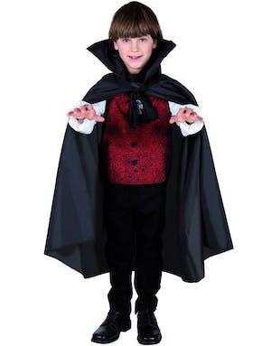 Svart Vampyr Djävulskappa till Barn - 75 cm 11941f2719605