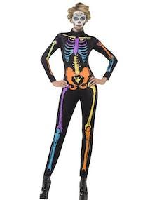 Svart Jumpsuit med Neonfärgat skelettryck 9c3e89af98bd6