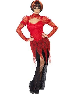 Röd och svart Vampyrklänning 8b82e7ce48721
