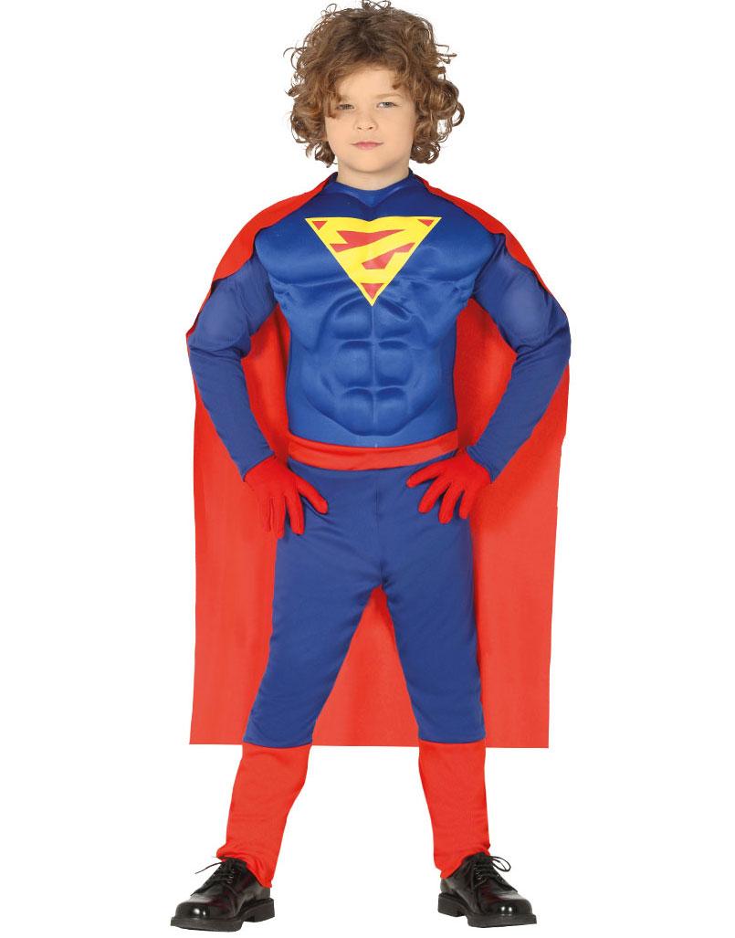 Muskuløs Superhelt Kostyme til Barn