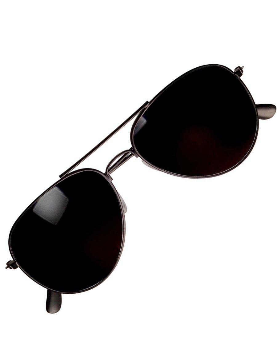 a2fafe2124fc Svarte Politi Pilot Briller m Speilglass
