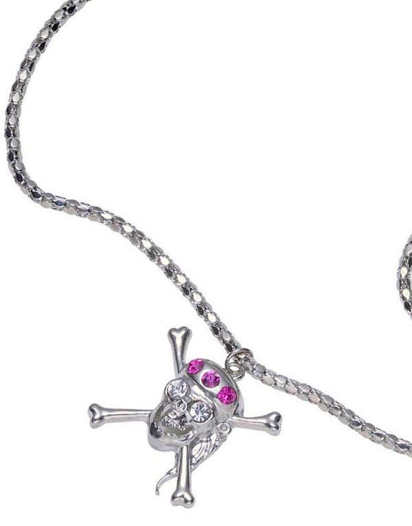 Smycke med Piratskalle och Stenar