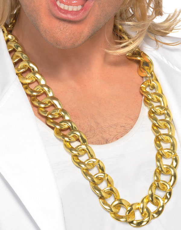 Dollar Necklace Gold Dollar Glitter Ring 70's Gangst Stick Pimp W//silver Top