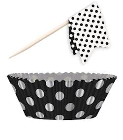 c897dce3eab3 Svart Muffins Kit 48 Delar - Polka Dot