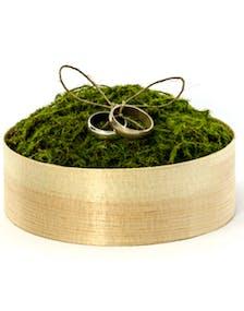online retailer cfd84 ada5f Treboks med Grønn Mose til Ringer - Ringpute 12 cm