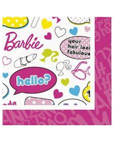 b4b83038 Barbie - 20 stk Servietter 33x33 cm