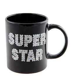 a8e32dc9 Super Star - Svart Krus Med Sølvfarget Tekst