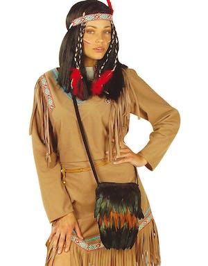 5ca4a0fa Svart Indianer Kostymeveske med Fjær - Cowboy & Indianer - Kostymer ...