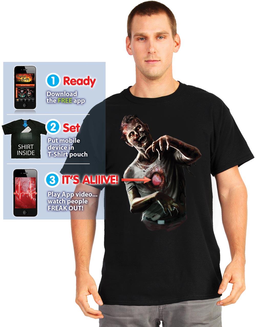 NYHET! Digital Dudz T skjorte mMulighet For Animasjon