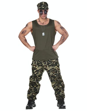 Mr. Soldier - Militär Maskeraddräkt (Herr) - Militär ... 99caaaa6d61e8