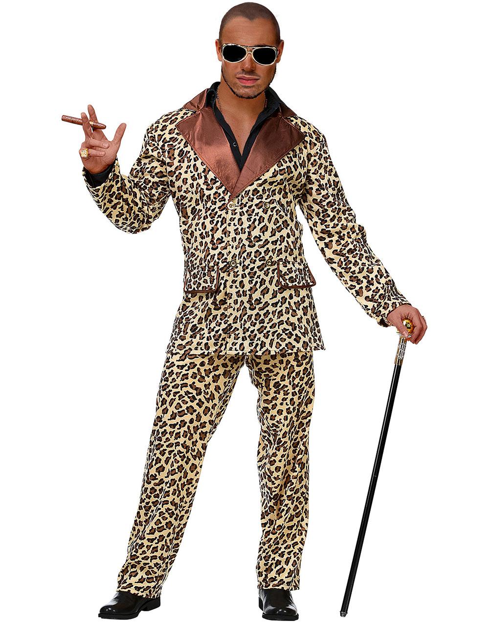 Dräkter Leopardmönstrad Pimpdräkter Maskeraddräkt Herr Pimp wC8pq7