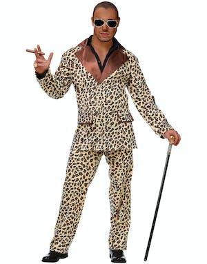 Leopardmönstrad Pimp Maskeraddräkt (Herr) - Pimper   Hallik ... 9a855adabb06b