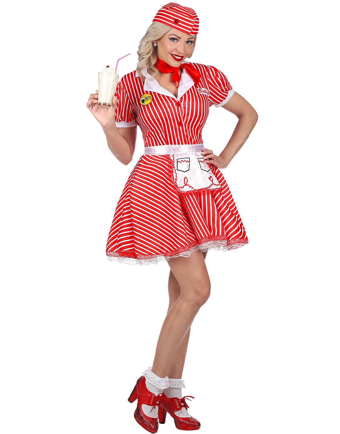 50 talls Servitør Kostyme til Dame