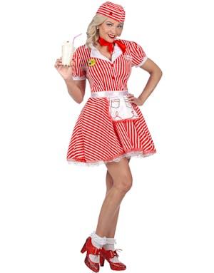 cdb9623e7 50-talls Servitør Kostyme til Dame